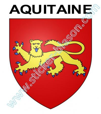 blason aquitaine autocollant pour plaque d 39 immatriculation automobile. Black Bedroom Furniture Sets. Home Design Ideas