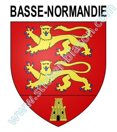 blason basse normandie autocollant pour plaque d 39 immatriculation automobile. Black Bedroom Furniture Sets. Home Design Ideas