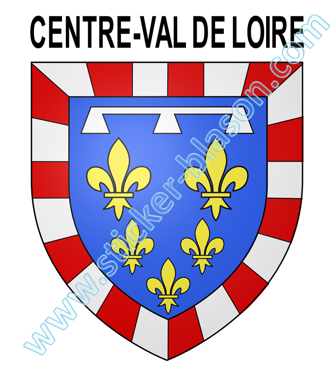 blason centre val de loire autocollant pour plaque d 39 immatriculation automobile. Black Bedroom Furniture Sets. Home Design Ideas