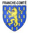 Sticker autocollant blason Franche-Comté pour plaques auto