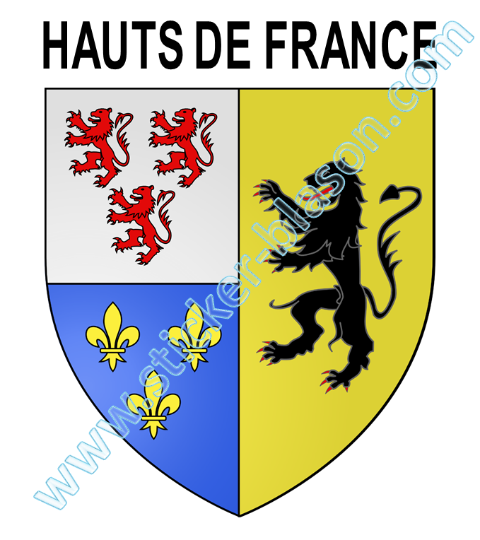 Blason hauts de france autocollant pour plaque d for Haute de france