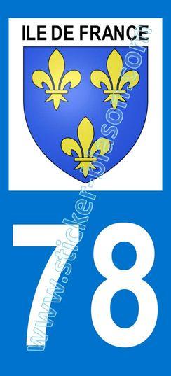 Blason ile de france d partement 78 yvelines for 78 en france