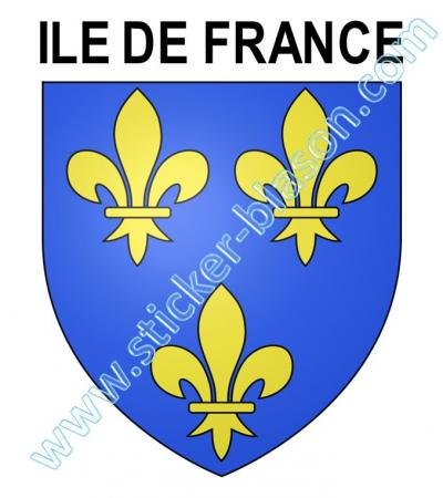 blason ile de france autocollant pour plaque d 39 immatriculation automobile. Black Bedroom Furniture Sets. Home Design Ideas