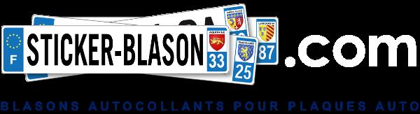 Sticker blason autocollant pour plaques d`immatriculation auto