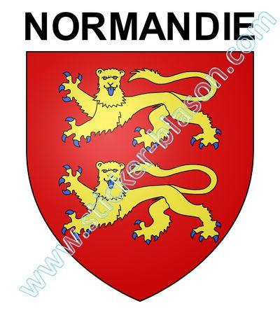 Blason Normandie Autocollant Pour Plaque D Immatriculation Automobile
