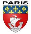 Sticker autocollant blason Paris pour plaques auto