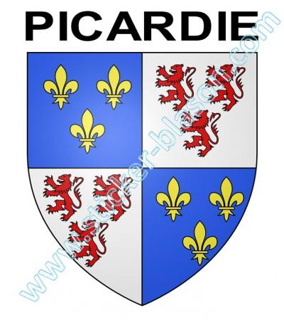 blason picardie autocollant pour plaque d 39 immatriculation automobile. Black Bedroom Furniture Sets. Home Design Ideas