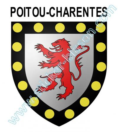 blason poitou charentes autocollant pour plaque d 39 immatriculation automobile. Black Bedroom Furniture Sets. Home Design Ideas